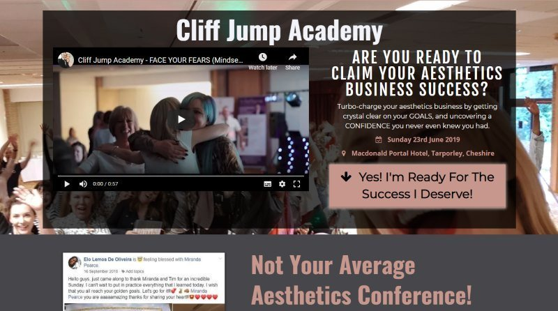 cliff jump academy website
